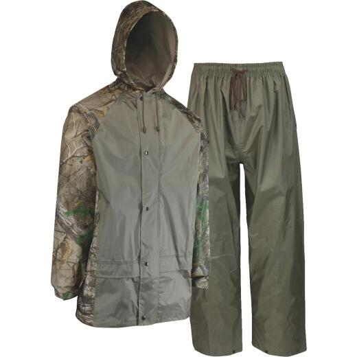 West Chester Large 2-Piece RealTree Camo Polyester Rain Suit